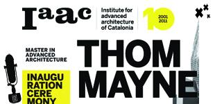 Lección inaugural de curso del Iaac con Thom Mayne