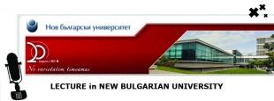 Conferencia en 'New Bulgarian University'
