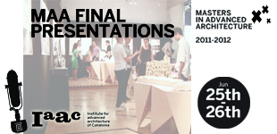 Presentación Final del Masters in Advanced Architecture Class 2011/2012.