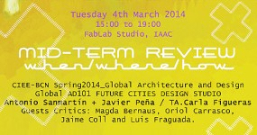 Javier Peña, Key faculty at MID-TERM REVIEW of GLOBAL ARCHITECTURE & DESIGN of CIEE-BCN, the 4th March