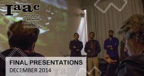 JAVIER PEÑA, SENIOR FACULTY AND JURY AT IAAC FINAL PRESENTATIONS, DECEMBER 2014